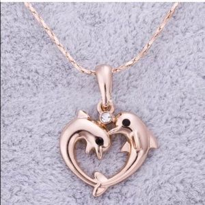 Gold Filled CZ Dolphin Necklace